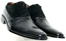 Fratelli NEW 8508-01 Blk Embossed Leather Suede Laced Dress Oxford Men's US 10M