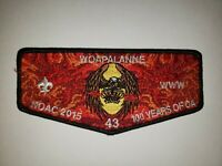 Boy Scout OA Woapalanne Lodge 43 2015 100th Anniversary Centennial NOAC Flap
