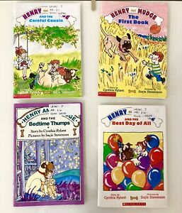 Lot Of 4 Henry and Mudge Scholastic Books By Cynthia Rylant First Best Cousins