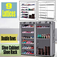 9 Tiers Shoe Rack Shoe Storage Organizer Cabinet Tower w/ Non-woven Fabric Cover