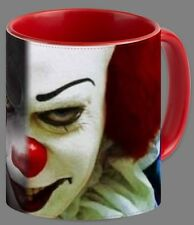 2 FACES OF PENNYWISE Stephen King's IT RED Coffee Mug
