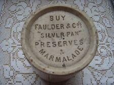 vintage antique faulder and co silverpan preserves marmalade jar stoneware