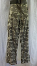 "OTB Pants Size 38"" X 32"" NWT Camouflague Web Belt Cargo Pockets 100% Cotton $40"