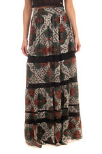 RRP €295 ALICE + OLIVIA Maxi Skirt Size 6 Fully Lined Floral Design Lace Insert