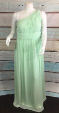 Donna Morgan Green One Shoulder Maxi Empire Dress Sz 16W