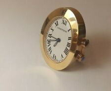 Cartier 2752 Table Desktop Travel Alarm Clock Gold Plated Watch