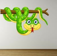 SNAKE BRANCH Wall Sticker MURAL DECAL KIDS BEDROOM JUNGLE NURSERY ANIMAL