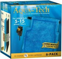 AQUA-TECH EZ-Change #1 Filter Cartridge for 5-15 Filters, 6 Pack 6-Pack, Blue
