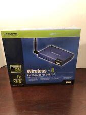 Linksys Wps54Gu2 Wireless G Print Server 2.4 Ghz Usb 2.0 New
