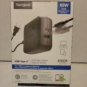 New Targus 65W USB Type-C Laptop Charger, APA104BT
