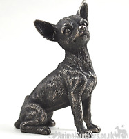 Cold Cast Bronze Chihuahua lover gift sculpture ornament figurine collectable