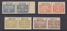 Argentina, Santa Fé, 1921 Fiscals, 12 diff Fomento Talon & Control halves