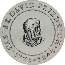 DDR 10 Mark Silber 1974 stempelglanz Caspar David Friedrich in Münzkapsel