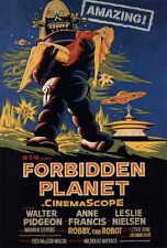 FORBIDDEN PLANET Movie POSTER 27x40 C Walter Pidgeon Anne Francis Leslie Nielsen