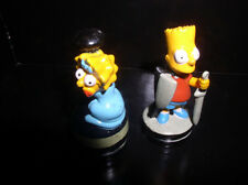 The SimpsonsLbart & Lisa Simpson Black & Grey Base 2 Pvc Figurines