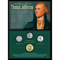 NEW American Coin Treasures The Different Faces of Thomas Jefferson 11057
