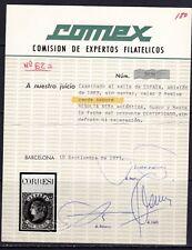 España 1862. Isabel II. Edifil 62 a. Certificado COMEX. MH. *.