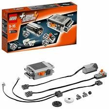 LEGO 8293 Technic Power Function Medium Motor Battery Box Switch Light Cable Set