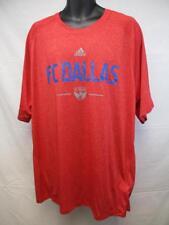 New MLS FC Dallas Mens 2XL 2XLarge Adidas Climalite Red Shirt MSRP $32