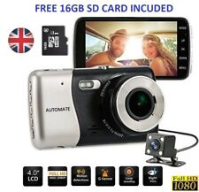 HD 1080P Car DVR Dual Lens Camera Video Recorder Rearview Dash Cam G-sensor UK