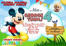 Inviti Per Festa Di Compleanno Personalizzati Topolino 8 biglietti misura A6
