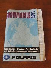 2001 Polaris Universal Snowmobile Owners & Maintenance Manual