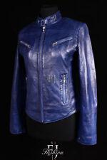Cappotti e giacche da donna blu in pelle taglia 42