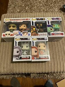 Marvel Funko Pop Bundle Inc Wandavison, Spiderman & Guardians Of The Galaxy