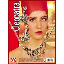 + set cleopatra orecchini e collana per carnevale ORO SERPENTE