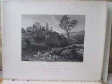 Vintage Print,LA RICCIA,Poussin,National Gallery,1832