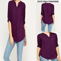 DAVID EMANUEL Sheer Purple Shirt top Sizes 18 - 24