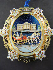CHRISMAS 2004 WHHA ORNAMENT WINTER SLEIGH RIDE WITH PRESIDENT & MRS. HAYES 1880