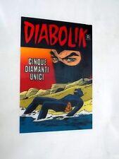 """Diabolik gadget Cartolina 3D allegata """"Cinque diamanti unici"""" del 2007"""