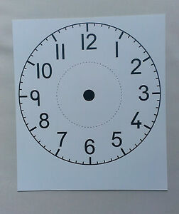 Clock Face (Plastic Clock Face for writing on with dry wipe pen) Diameter 165mm