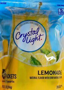 Crystal Light Lemon Iced Tea or Lemonade Natural Flavor, 16 Pitcher Packs Each