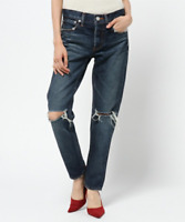 MOUSSY Vintage Berkley Tapered Distressed Slim Ankle Denim Jeans 30 $350 #5430
