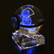 3D Squirtle Crystal Pokemon pokeball Elf Night Bedroom desk RGB LED light lamp