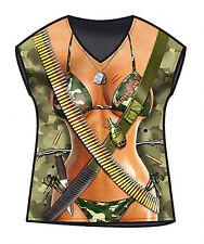 Sexy Military Girl t-shirt US Army woman size S/M microfiber sleveless ITATI