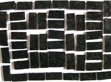 25 Black MOSAIC Border Tiles 2cm x 1cm Craft Supplies NEW