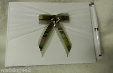 Wedding Redneck Bridal Camo Deer Hunter Hunting Guest Book & Pen Set