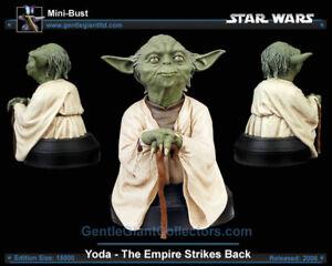 PROMO/ARTIST PROOF  RARE Star Wars Gentle Giant YODA Bust/Statue MINT