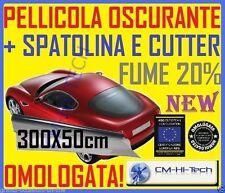 PELLICOLA OSCURANTE 20% X VETRI AUTO TUNING 300X50 ROTOLO NORMA OMOLOGATA NEW *