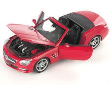 BLITZ VERSAND Mercedes SL 500 Cabrio 2012 rot red Welly Modell Auto 1:24 NEU OVP