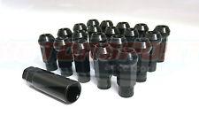 Steel Wheel Nuts, Open End, Steel Extended Wheel Nuts x20 M12x1.25mm Black