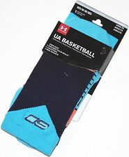 Under Armour Basketball SC Men's Crew Socks M 4-8.5 Blue 1Pair heatgear New
