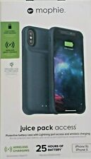 MOPHIE Juice Pack Access Battery Case Apple iPhone X/XS 2,000 mAh - Navy NEW !