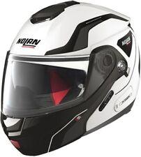 Casco de moto NOLAN N90 / 2 STRATON N-COM color: Blanco / Negro Talla: XL (61)