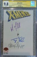 X-Men '92 #1__CGC 9.8 SS__Signed by Michael Fassbender, Sheridan and Shipp
