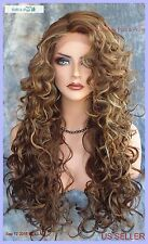 LACE FRONT LONG CURLEY WIG FS8.27.613 GORGEOUS SEXY NEW STYLE USA SELLER 226