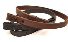 "1"" wide Handmade Matt Black or Brown Leather Rifle-Gun Sling 34-38"" adjustable"